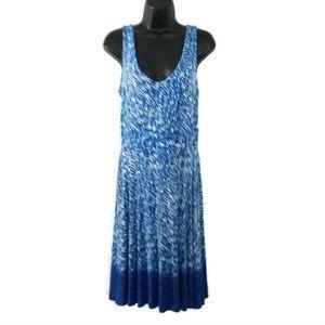 Athleta Small Dress Blue White Print Sleeveless